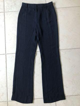 🚚 High Waisted Navy Striped Pants