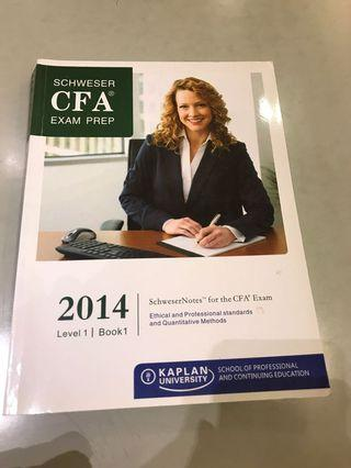 Schwester CFA exam prep level 1 book 1 Kaplan university 🌹If no other purchase ,price is $20🌲