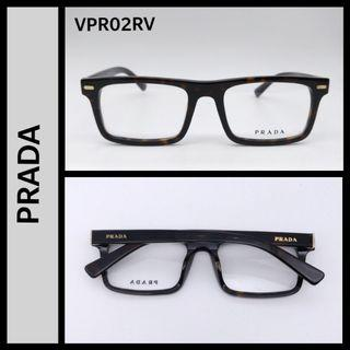 Prada VPR02RV rectangle acetate frame