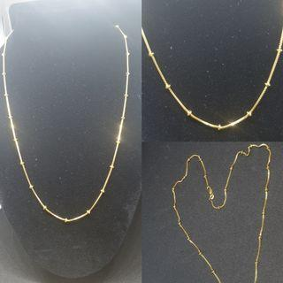 916 solid gold spacer chain ( latest and imported)