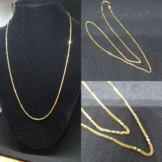 916 solid gold fancy diamond cutting( latest and imported chain)