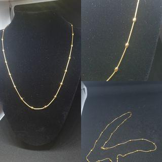 916 gold bead necklace ( latest design and imported)
