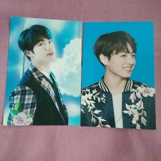 BTS WINGS TOUR OFFICIAL MINI PHOTOCARDS