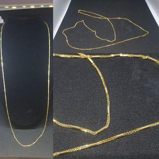916 solid gold cylinder chain (latest and imported)