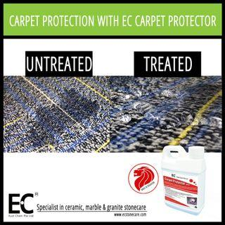 EC Carpet Protector for Car Carpet Upholstery Water Resistant Splash Resistant Easy Cleaning