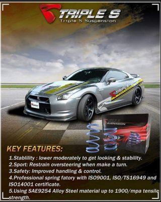 Triple S Lowered Spring Mazda 3 2015-2016