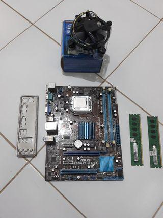 Motherboard ASUS P5G41TM-LX3 G41 DDR3 Combo Core2 Duo E7500, RAM (2x) Visipro 2GB PC10600