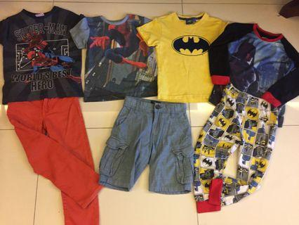 Boys Clothes set 4-5 years gap, Batman, Spider-Man  and more