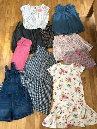 Assorted dresses , jumper clothes  for girls age 8-11 years