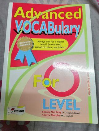 O Level English Vocabulary Guide