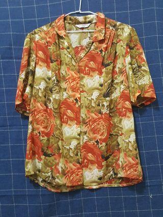 🚚 [剩屋] 古著 花色薄襯衫