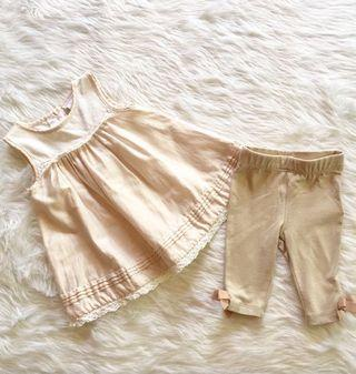 nude baby outfit