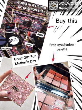 Free Shimmering Eye shadow palette