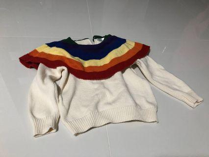 Preloved Toddler white sweater