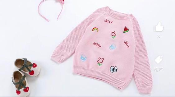 Preloved Pink toddler sweater