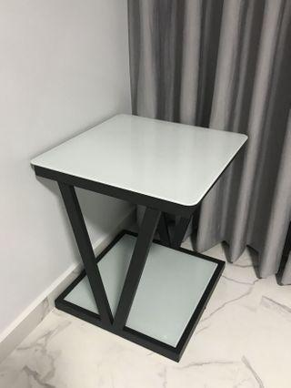 Brand New side table with tempered glass