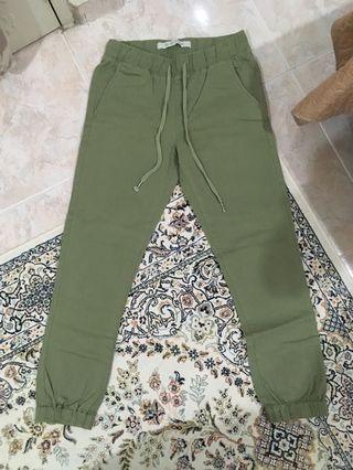 The Cuffed Chino Green Pants