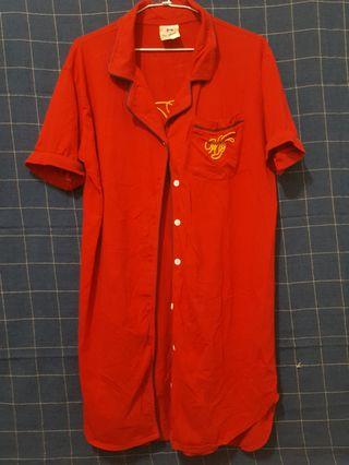 [剩屋] 古著 保齡球隊服造型襯衫