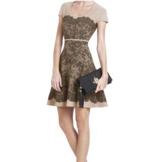 BCBG MAXAZRIA Mona Lace Nude Cocktail Dress
