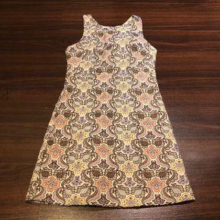 Zara Pastel Embroidered Dress