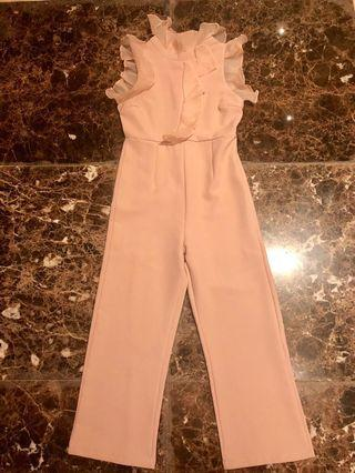 Pink Color Lace Jumpsuit