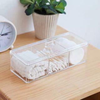 透明三格收納盒