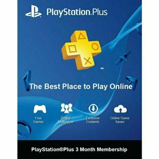 Sony PS PLUS Playstation Plus Membership 3 Months Code  PS4