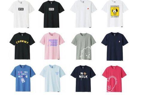 Bt21 x Uniqlo shirts
