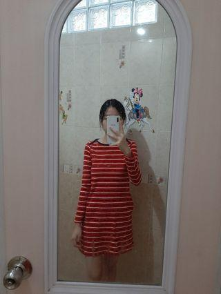 Dress Merah Red Uniqlo