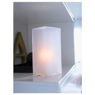 🚚 Pair of IKEA frosted table lamps