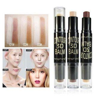 🚚 Double Ended Face Highlighter Bronzer Stick