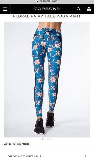 Upside Floral Fairytale Tights Blue Size 12