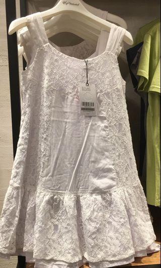 Chickeeduck 6-7歲白色lace裙