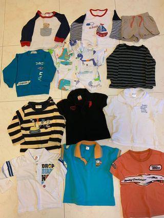 Boys Clothes bundle deal (11 tops and 3 pants)