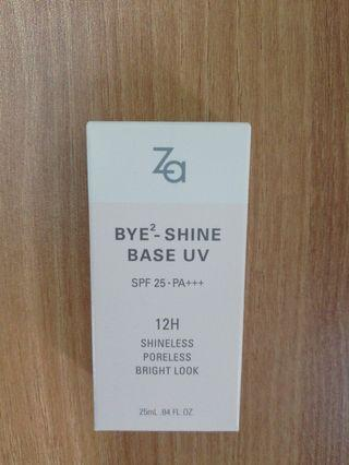(全新正貨) Za Bye 2 Shine Base UV 防曬底霜