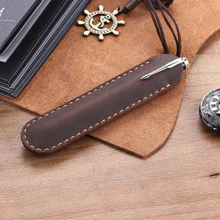 Genuine leather pen case