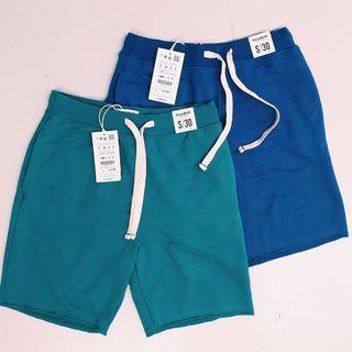 Jogger Shorts Men S Size Blue + Grey