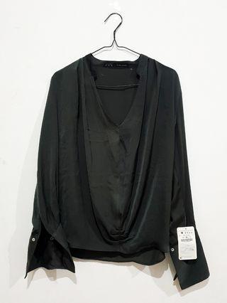 [GOOD DEAL] Blouse Formal Dark Grey Zara