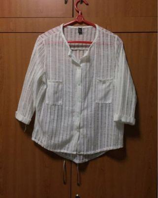 White Translucent Blouse / Outer Wear