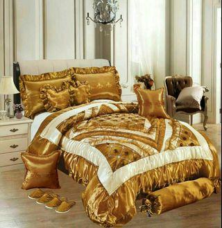 Set Cadar Pengantin with comforter 10in1