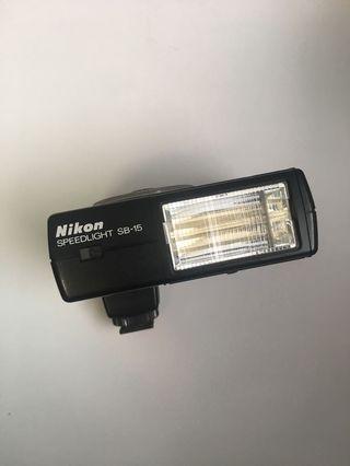 nikon speedlight sb-15 古董閃燈合菲林相機