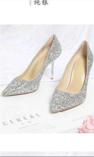 Wedding Heel Silver