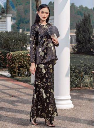 Raya Sale : Fillea Brocade Kurung (Black, BNIB)