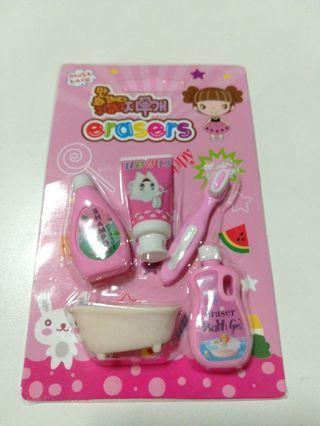 Brand New Bathroom accessories design erasers