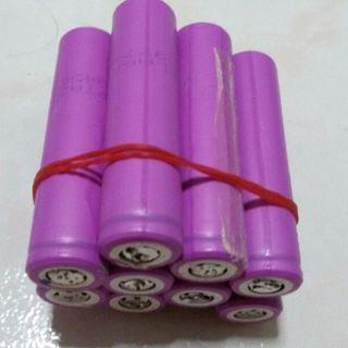 9x 16650 rechargeable batteries