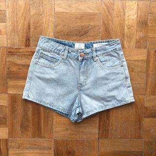 Cotton On Mid Saturday Basic Stonewashed Shorts