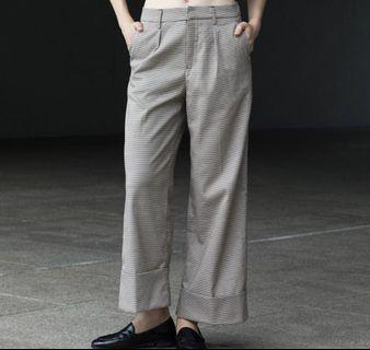 (S) TEM Henrietta Check Cuff Trousers