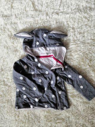 Baby bunny ears hoodie sweater