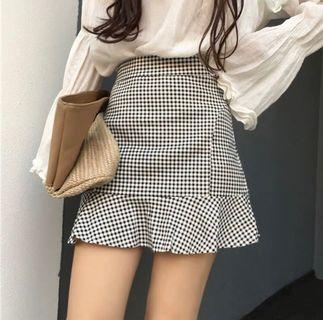 Gingham Polka Dot Skirt
