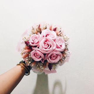Sweet Pink Soap Bouquet 💐